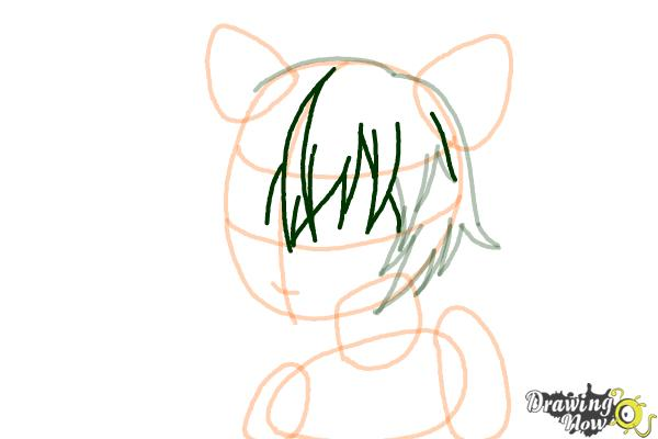 How to Draw Sinon, Shino Asada from Sword Art Online - Step 6