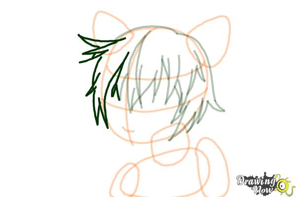 How to Draw Sinon, Shino Asada from Sword Art Online - Step 7