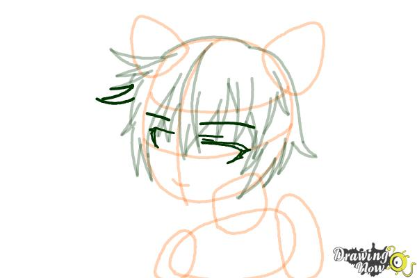 How to Draw Sinon, Shino Asada from Sword Art Online - Step 8