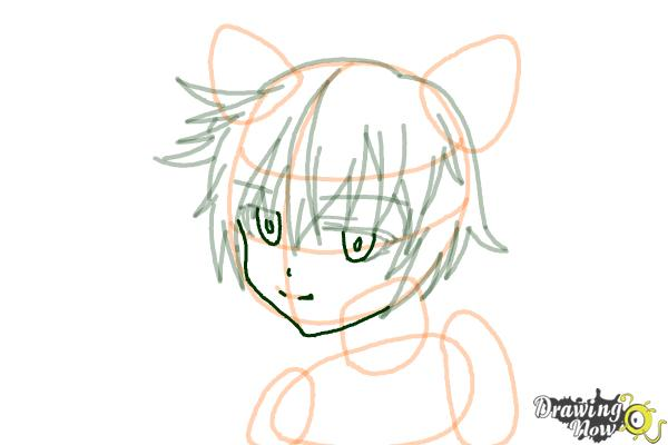 How to Draw Sinon, Shino Asada from Sword Art Online - Step 9