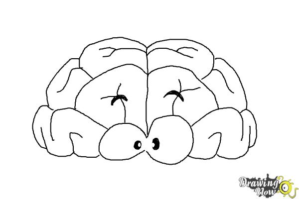 How to Draw a Brain For Kids - Step 10