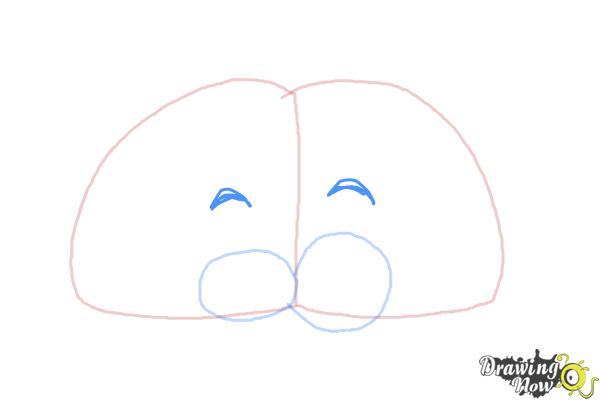 How to Draw a Brain For Kids - Step 4