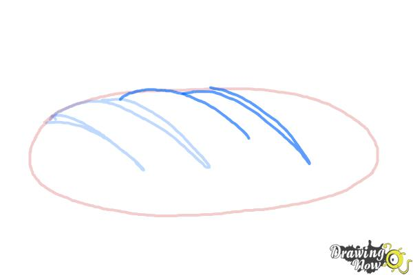 How to Draw Bread - Step 4