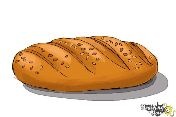 How to Draw Bread - Step 7