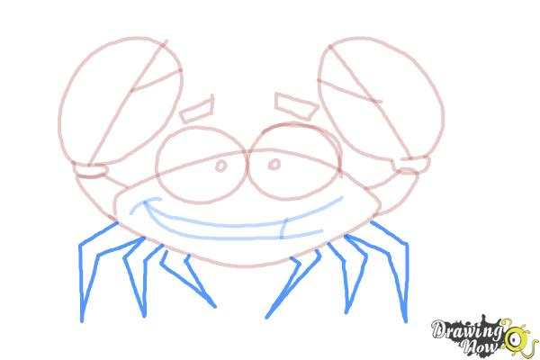 How to Draw a Crab For Kids - Step 9
