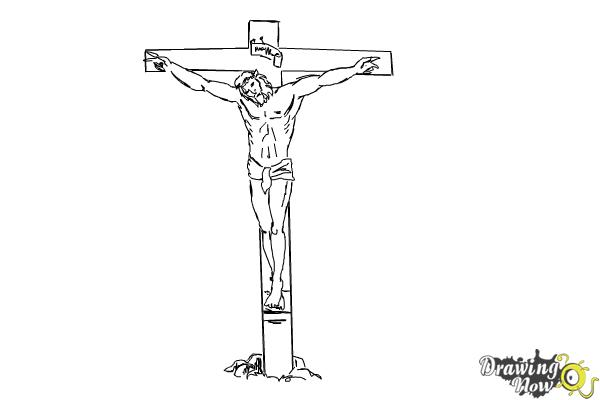 How To Draw Jesus On The Cross Drawingnow