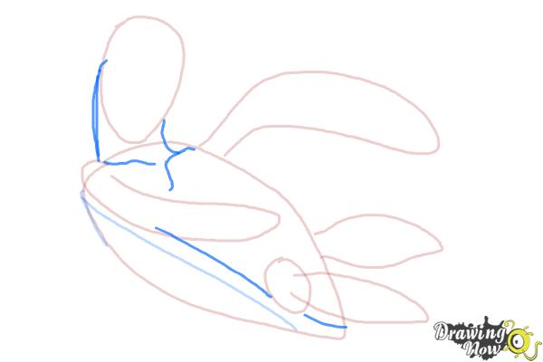 How to Draw Crush from Finding Nemo - Step 5