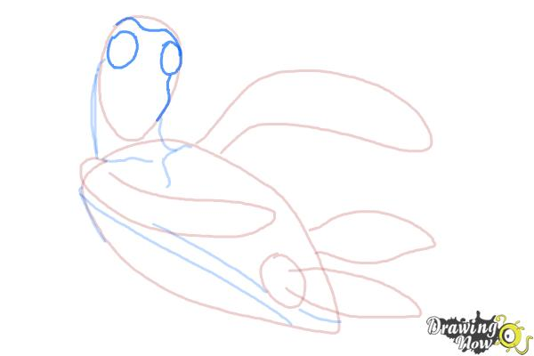 How to Draw Crush from Finding Nemo - Step 6