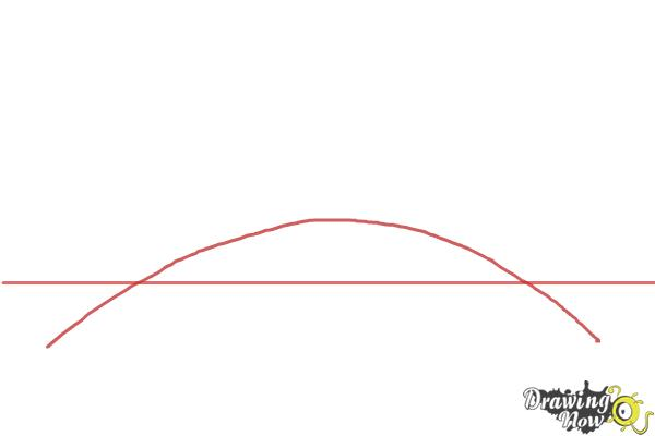 How to Draw a Bridge Step by Step - Step 1