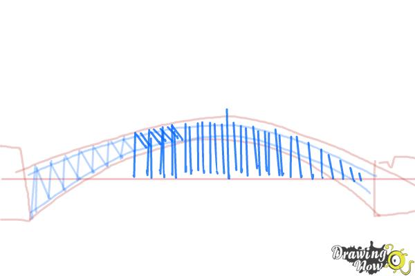 How to Draw a Bridge Step by Step - Step 5