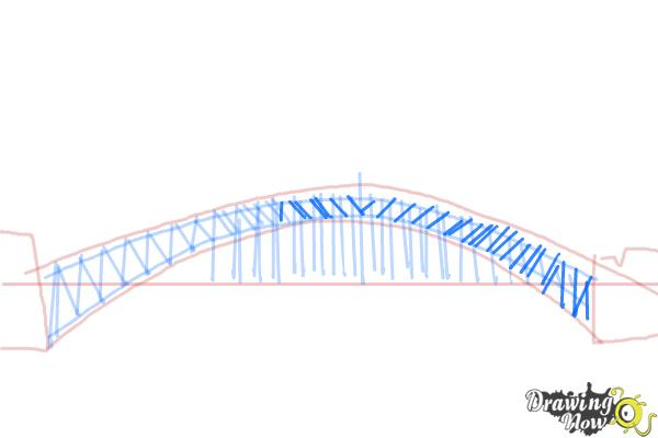 How to Draw a Bridge Step by Step - Step 6