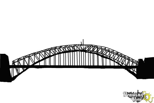 How to Draw a Bridge Step by Step - Step 8