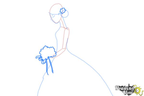 How to Draw a Bride - Step 5