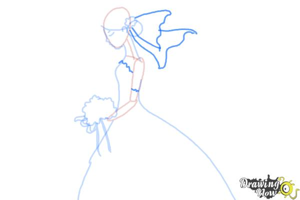 How to Draw a Bride - Step 6