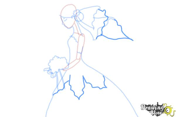 How to Draw a Bride - Step 7