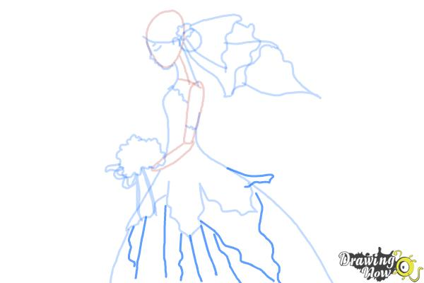 How to Draw a Bride - Step 8