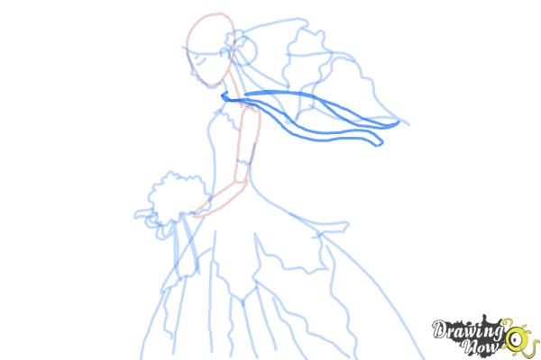 How to Draw a Bride - Step 9