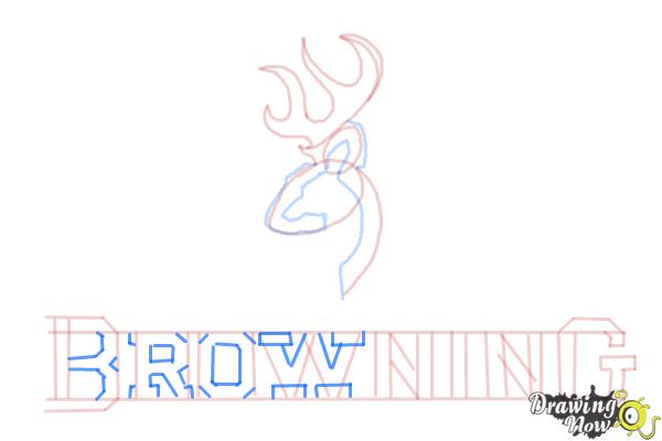 How to Draw a Browning Symbol - Step 11