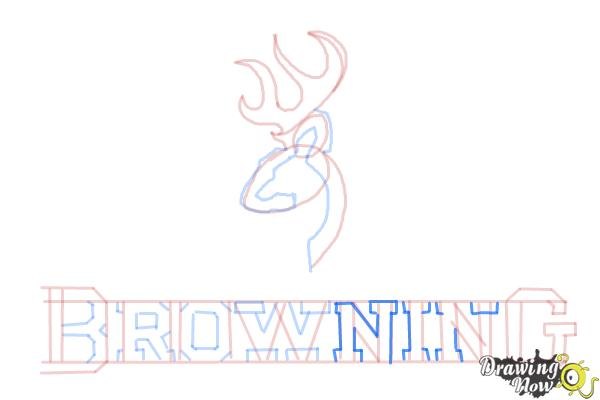 How to Draw a Browning Symbol - Step 12