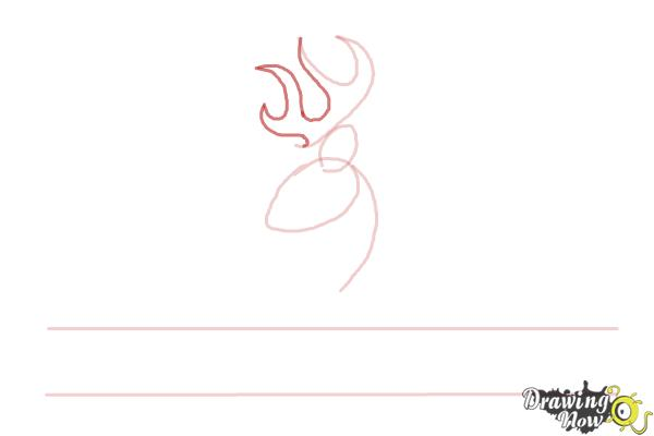 How to Draw a Browning Symbol - Step 4