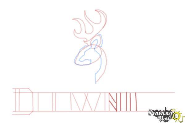 How to Draw a Browning Symbol - Step 9