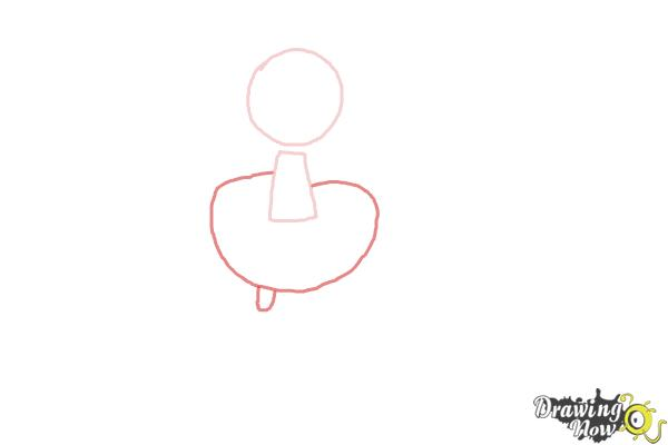 How to Draw a Dancer - Step 2