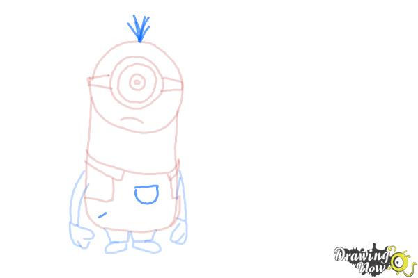 How to Draw Despicable Me Minions - Step 10