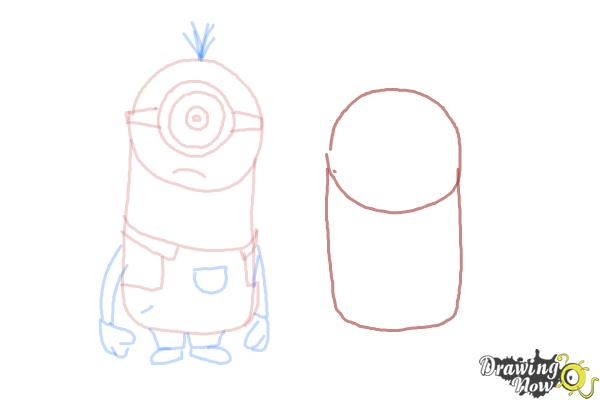 How to Draw Despicable Me Minions - Step 11