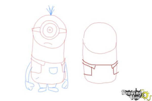 How to Draw Despicable Me Minions - Step 12