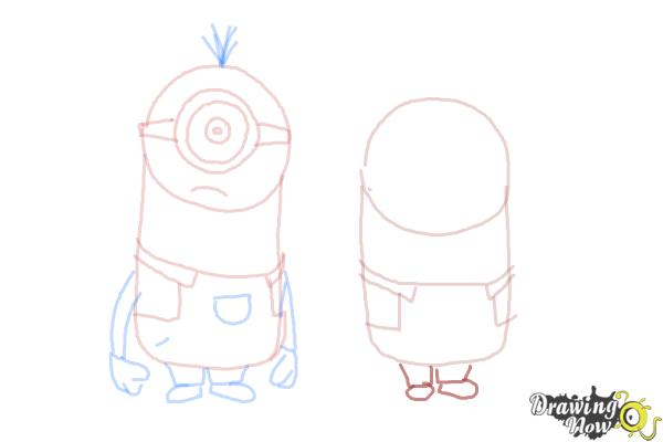 How to Draw Despicable Me Minions - Step 13