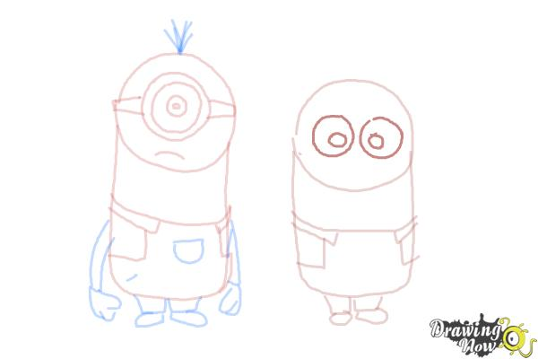 How to Draw Despicable Me Minions - Step 14