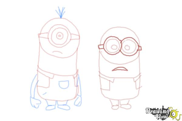How to Draw Despicable Me Minions - Step 15