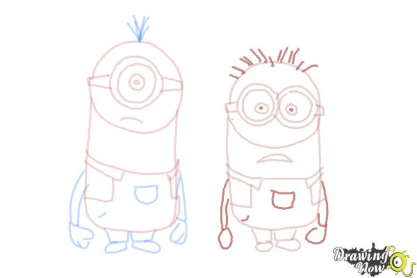 How to Draw Despicable Me Minions - Step 16