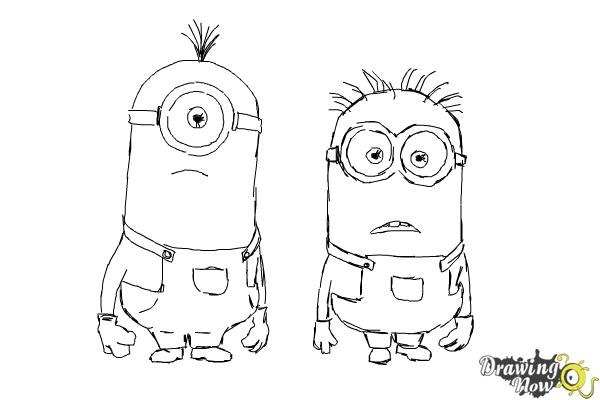 How to Draw Despicable Me Minions - Step 17