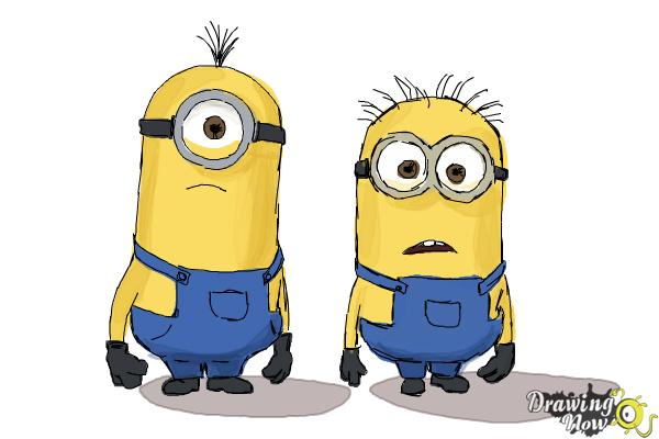 How to Draw Despicable Me Minions - Step 18