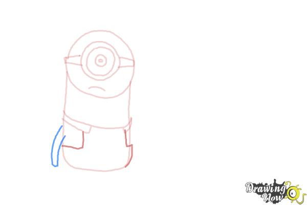 How to Draw Despicable Me Minions - Step 7