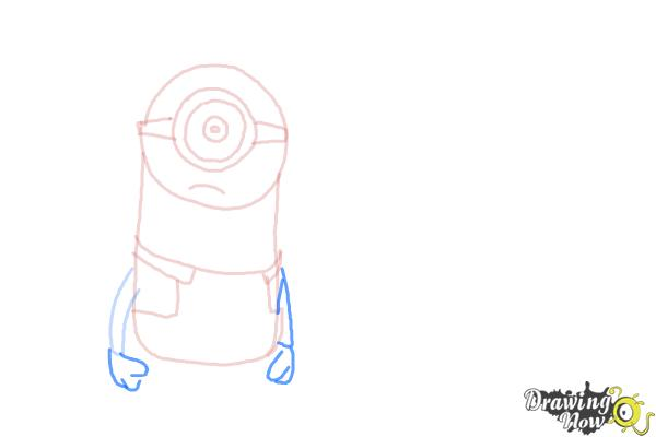 How to Draw Despicable Me Minions - Step 8