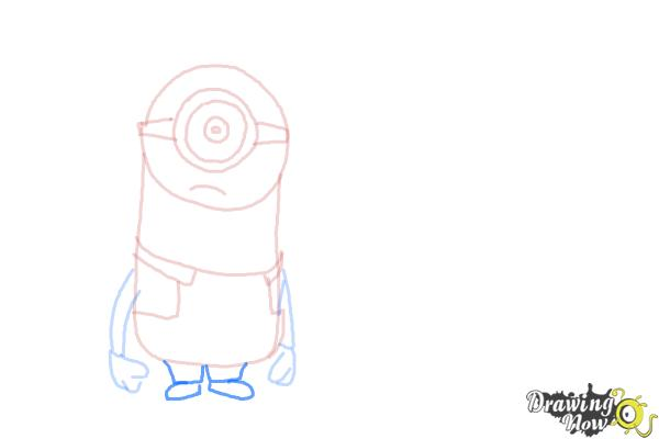 How to Draw Despicable Me Minions - Step 9