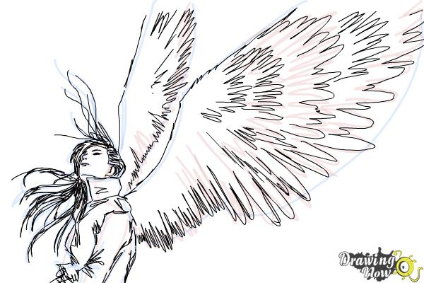 How To Draw A Dark Angel Drawingnow