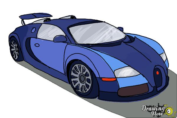 How To Draw A Bugatti Drawingnow