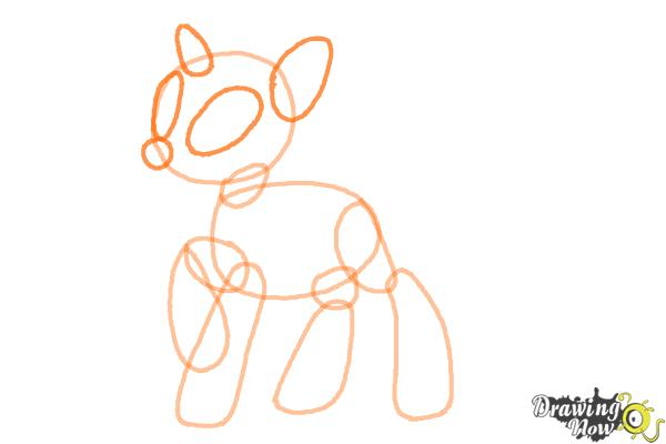 How to Draw DJ Pon-3 from My Little Pony Friendship is Magic - Step 4