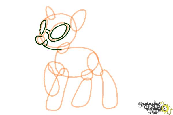 How to Draw DJ Pon-3 from My Little Pony Friendship is Magic - Step 5
