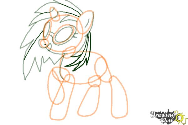 How to Draw DJ Pon-3 from My Little Pony Friendship is Magic - Step 7