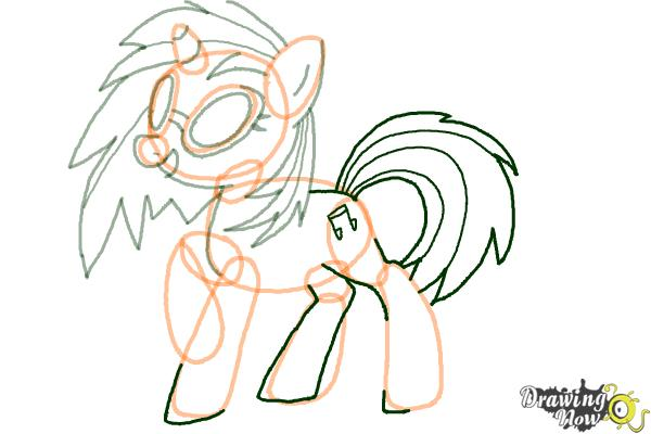 How to Draw DJ Pon-3 from My Little Pony Friendship is Magic - Step 8