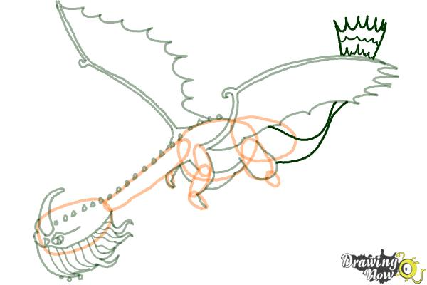 How to Draw a Scauldron Dragon from How to Train Your Dragon - Step 7