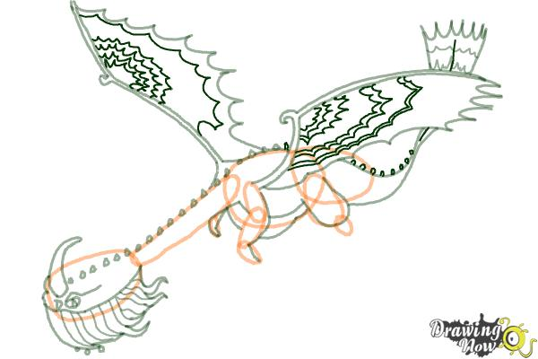 How to Draw a Scauldron Dragon from How to Train Your Dragon - Step 8