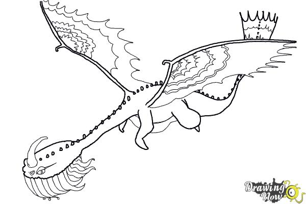 How to draw a scauldron dragon from how to train your for How to train your dragon 2 coloring pages