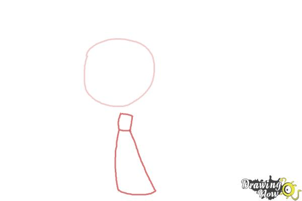 How to Draw a Chibi Elsa from Frozen - Step 2