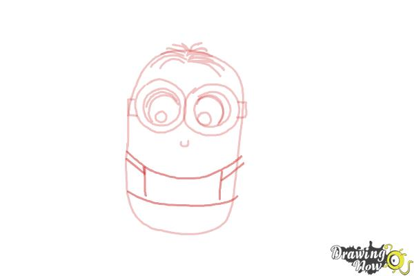 How to Draw a Chibi Minion - Step 6