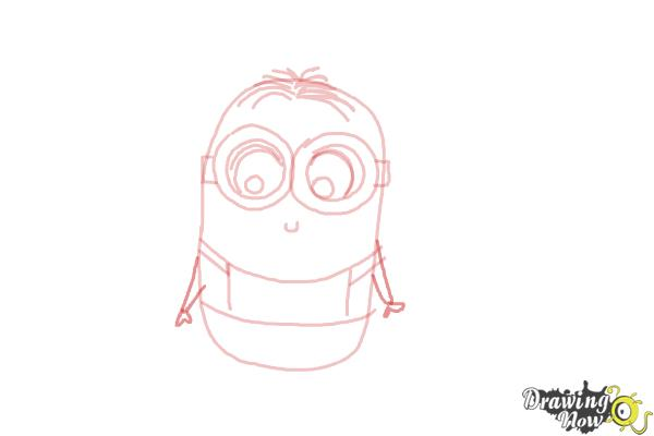How to Draw a Chibi Minion - Step 7